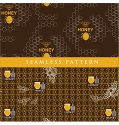 set seamless pattern for honey product vector image