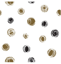 sloppy circles random doodle dots seamless pattern vector image vector image
