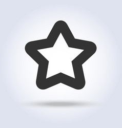 star shape icon in flat design vector image vector image