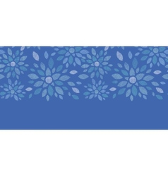 Blue textile peony flowers horizontal seamless vector image vector image