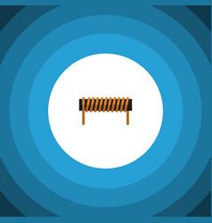 isolated coil copper flat icon bobbin vector image
