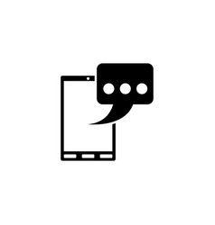 phone message sms flat icon vector image