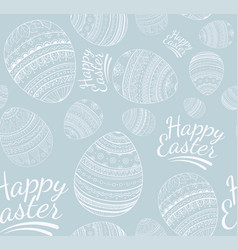 seamless happy easter pattern vector image vector image