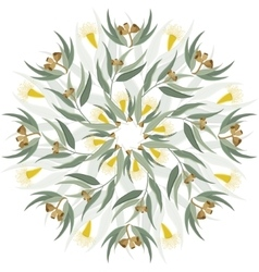 Abstract botanical nature ornament vector image vector image