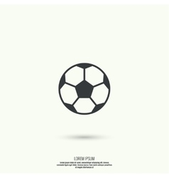icon soccer ball vector image vector image