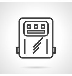 Power counter black line icon vector image