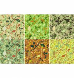 spring leaves pattern vector image vector image