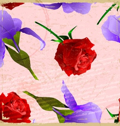 Vintage card with a picture of a rose vector image