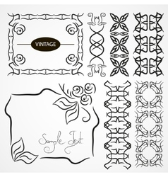 Vintage ornaments and dividers frame vector