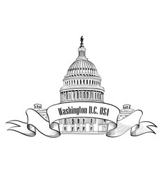 washington dc usa travel sign vector image