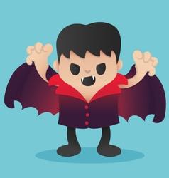 Dracula Cartoon in Halloween vector image