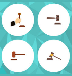 flat icon lawyer set of law legal defense and vector image vector image