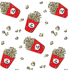 modern cinema pattern cool pop corn boxes vector image vector image