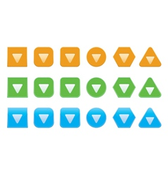 set of down arrow icons vector image vector image