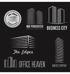 Set of logo sticker emblem label and logotype vector image