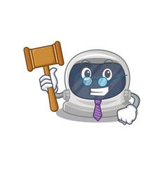 A humble judge astronaut helmet wearing glasses vector