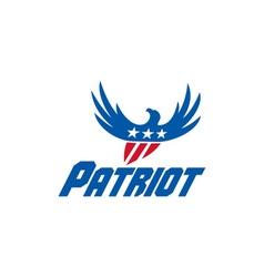 American eagle flying usa flag patriot retro vector