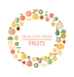 background with fresh fruits background with vector image