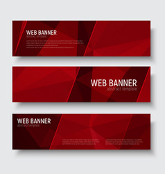 banner polygon template 01-06 vector image