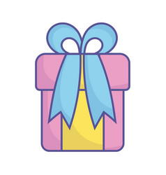 bashower wrapped gift box surprise icon vector image