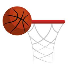 Basketball balloon and basket vector