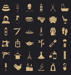 beauty icons set simple style vector image