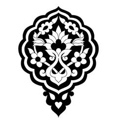 Black artistic ottoman pattern series seventy vector