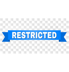 Blue stripe with restricted title vector
