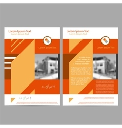 Book Cover Layout Design Abstract Presentation vector image
