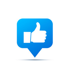 bright blue trendy icon for social network thumb vector image
