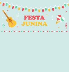 bright poster for festa junina vector image