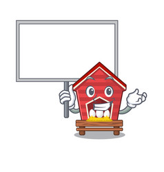 Bring board chicken coop isolated in mascot vector