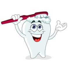 Brushing tooth vector