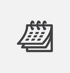 calendar flat fector design vector image