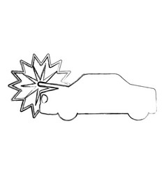 Car crash isolated icon vector