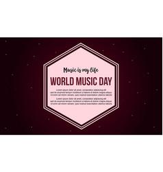 Celebration world music day banner style vector