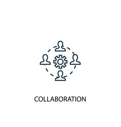 collaboration concept line icon simple element vector image