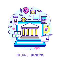 concept internet banking vector image