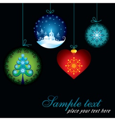 Decorative Christmas card vector image