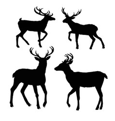 Deer silhouette vector