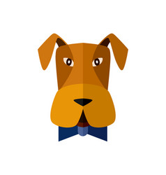 dog head icon in flat design vector image