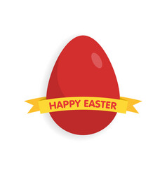 Easter eggs with ribbon vector