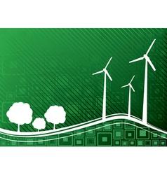 ecology concept green 1 vector image