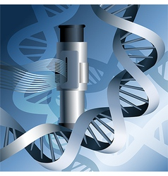 electron microscope and dna vector image