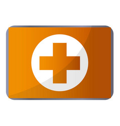 first aid kit icon cartoon style vector image
