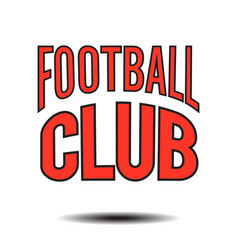 Football club text logo image vector
