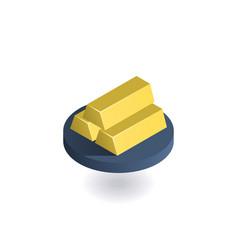 gold bar icon vector image