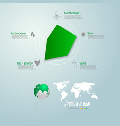 graph infographics of green energy in the world vector image