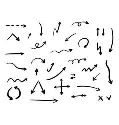 hand drawn arrow set collection vector image