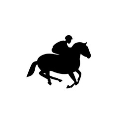 horse jockey icon design template isolated vector image